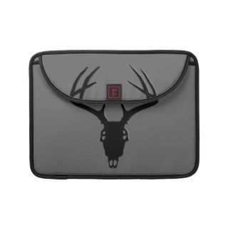 Deer Hunting   Deer Skull Silhouette Sleeves For MacBook Pro