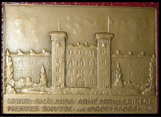 Sweden 1940 R Plaque Military Academy Award Sports