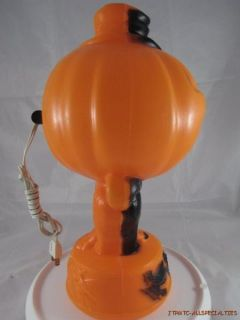 Halloween Jack O Lantern Hard Plastic Blow Mold Light Up B