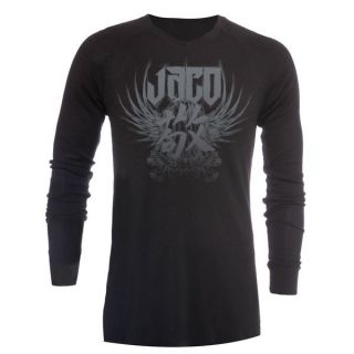 Jaco Clothing MMA Venerable V Neck Bamboo Black Mens Thermal Shirt S
