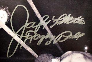 Jake LaMotta Raging Bull vs Sugar Ray Robinson Signed 16x20 PSA DNA