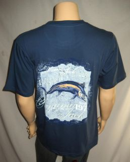 Panama Jack Blue Fishing Marlin Cotton T Shirt