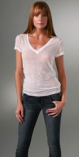 Bop Basics Short Sleeve V Neck Burnout T Shirt