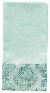 Scallop Seashell Kitchen Bath Jacquard Dishtowel Towel