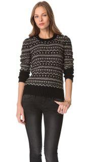 Juicy Couture Metallic Fair Isle Sweater