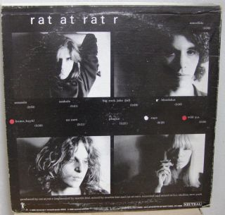 Rat at Rat R Post Punk LP Neutral Records Glenn Branca Swans No Wave