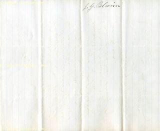 James G Blaine Autograph Letter Signed 04 20 1867