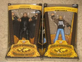 WWE Mattel Defining Moments UNDERTAKER STONE COLD STEVE AUSTIN Figures
