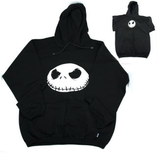 Jack Skellington Men L Nightmare before Christmas Black Hooded