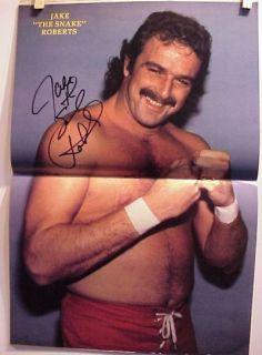 Jake Snake Roberts Wrestling Magazine Signed Poster WWF