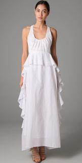 Sachin + Babi Embroidery Ruffle Long Dress