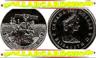CANADA 1984 CANADIAN HISTORIC JACQUES CARTIER QUEEN ELIZABETH 1 DOLLAR