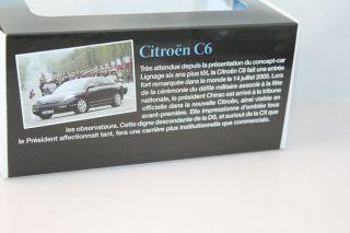 ATLAS 1:43 Citroen C6 Fete nationale Jacques Chirac 2005 presidential