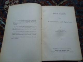 Life Characteristics Aphorisms Samuel Johnson Hay 1880s