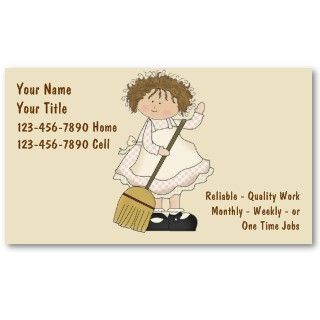 House Cleaning business cards you can customize now Free two sided