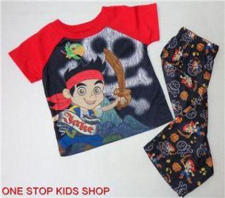 Jake and The Neverland Pirates Boys 2T 3T 4T 5T PJs Set Pajamas Shirt