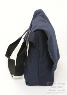 Jack Spade Mens Navy Canvas Messenger Bag