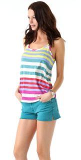 Splendid Tropical Stripe Pocket Tank