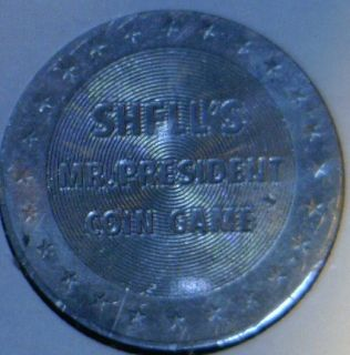 James Monroe Commemorative Mr President Shell Game Medal Token Coin