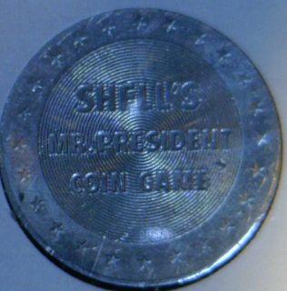 James Monroe Commemorative Mr President Shell Game Medal Token Coin