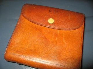 Vintage Leather Fly Salmon Fishing Casts Leather Wallet Ogden Smiths