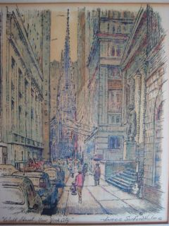 ANTIQUE JAMES SANFORD HULME WALL STREET NYC SIGNED OLD AMERICAN NEW