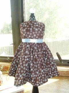 Blue Jacks Chocolate Dress Fits 18 American Girl Doll Clothes