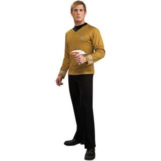 Movie 2009 Gold Shirt Adult Costume Star Trek Kirk James T