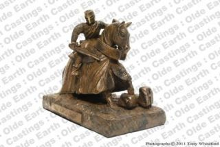 Knight Templar Figure on Horse 1177 Cold Cast Bronze Military Statue