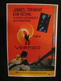Kim Novak James Stewart 1958 Vertigo Alfred Hitchcock Movie Poster
