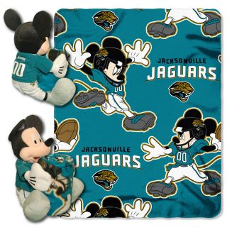 Jacksonville Jaguars NFL Disney Mickey Mouse Plush Hugger w Fleece