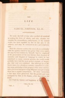 1822 4VOLS The Life of Samuel Johnson James Boswell Biography Baldwin