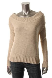 James Perse New Ivory Solid Long Sleeve Crew Neck Pullover Sweater 1