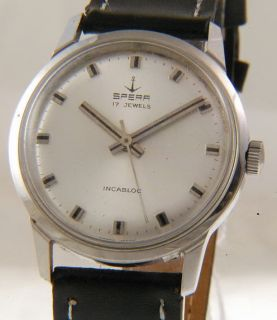 Vintage Spera Silver Dial Manual Wind Swiss Gents Watch O30
