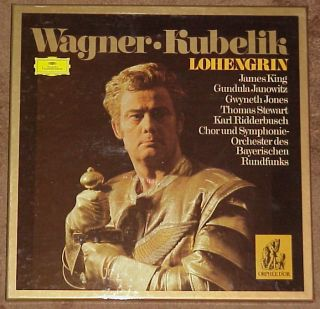 LOHENGRIN 5 LP OPERA SET JAMES KING GWYNETH JONES THOMAS STEWART