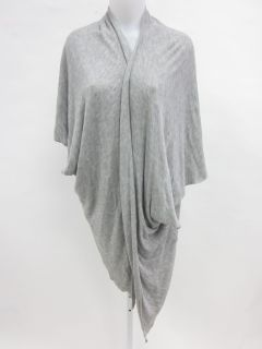 Elizabeth James Gray Oversized Cardigan Sweater Sz S
