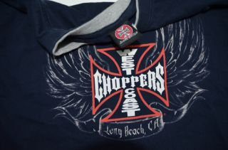 Jesse James West Coast Choppers Long Sleeve Two Tone Shirt XL Extra