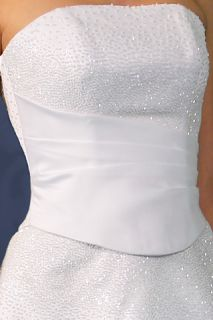 NEW Jacqui Strapless 2 Piece Wedding Dress Gown Size 18 White   Brand