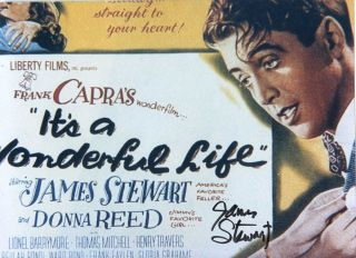 James Stewart Its A Wonderful Life Color Autographed
