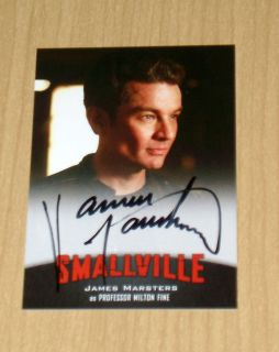 Smallville on Card Autograph James Marsters as Milton Fine A13