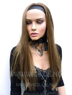 XLong Light Brown Straight 3 4 Fall Half Wig SNI 10