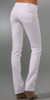 7 For All Mankind Straight Leg Jeans with Crystals