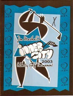 2003 Jim Marshalls Celebrity Golf Tournament Program SIGNED EX (Sku