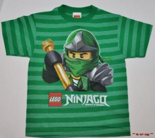 New Boys Lego Ninjago T Shirt Green Ninja Lloyd Size 5 6 or 7