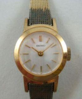 Vintage Womens Seiko 17 Jewel Ladies Wrist Watch 1100 6430 R