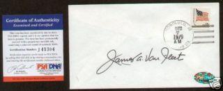 General James Van Fleet Signed Auto Postal Cover PSA
