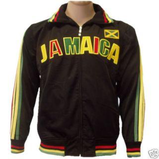 Jamaica Rasta Soccer Track Jacket Futbol Olympic XL