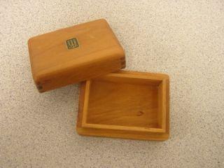 James Avery Wood Wooden Jewelry Box