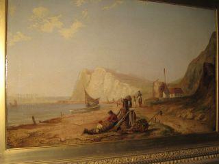 James Baker Pyne 1800 1870 ANTIQUE MASTER OIL LARGE ORIGINAL SIGNED