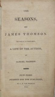James Thomson The Seasons 1812 Miniature 1st 1st